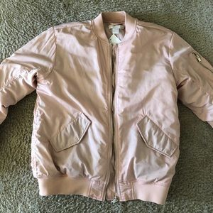 NWT BABY PINK BOMBER JACKET!